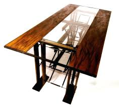 custom made dining tables uk dining table wood and metal zagons co