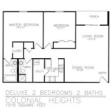 Colonial Floor Plan Residential Living Floor Plans