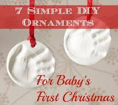 7 simple diy ornaments for baby s simple diy