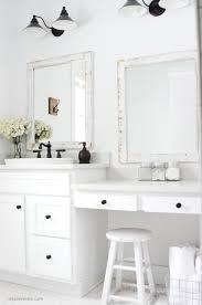 Frames For Bathroom Mirrors Farmhouse Bathroom Diy Framed Mirrors Simply Kierste Design Co