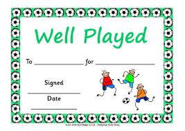 football certificate template football award certificate sample
