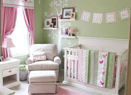 Pink And Green Nursery Decor Soft Pink And Mint Green Nursery Decor For A Baby In A Bird