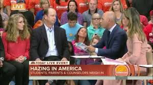 piazza family appears on today show for national hazing prevention