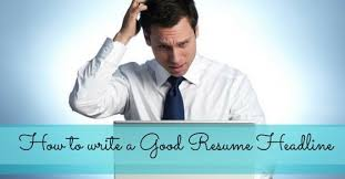 what are some examples of resume headlines