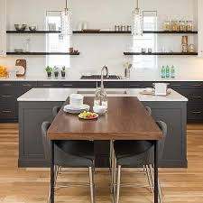 kitchen island breakfast table table perpendicular to island design ideas