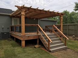 How To Attach A Pergola To A Deck by 28 Attaching A Pergola To A Deck Deck With Pergola Attached