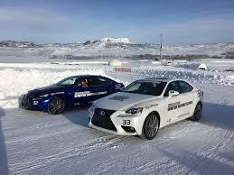 lexus is rwd lexus is awd vs rwd at bridgestone winter driving promo