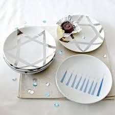 hanukkah plate these hanukkah plates idea for by using porcelain