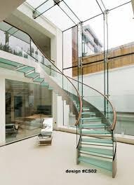 Modern Glass Stairs Design Modern Glass Stairs Glass Balustrade Modern Stairs Custom Design