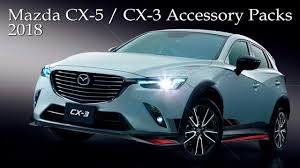 mazda uk 2018 mazda cx 5 and cx 3 suv u0027s new accessory packs uk market