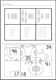 place value puzzle paste worksheets from the pond pinterest
