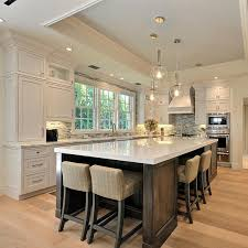luxury kitchen island designs beautiful kitchen with large island house u0026 home pinterest