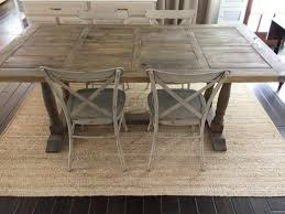 cottage dining room sets chic potted plant for farmhouse style dining table with five farmt