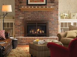 red brick fireplace ideas cabinetry tree services light gray