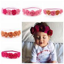flower bands 2017 baby flower headbands diy flowers girl hair