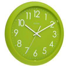 acctim 21895 abingdon wall clock lime green amazon co uk