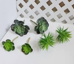 artificial grass snow lotus mini pine tree plastic succulents