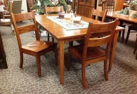5 piece oak shaker dining set the amish connection solid wood