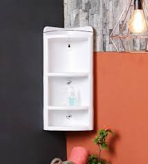 Plastic Bathroom Storage Buy White Plastic Bathroom Cabinet By Jj Sanitaryware