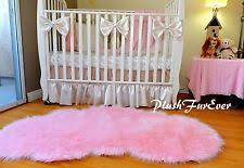 Nursery Area Rugs Plushfurever 5 X 6 Girl Baby Pink Sheepskin Nursery Area Rug Faux