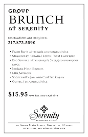 menu for brunch serenity brunch menu occasions lunch tea and special