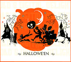 rare vintage halloween digital download kids trick or