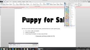 microsoft 2013 essential word lab 1 puppy flyer youtube