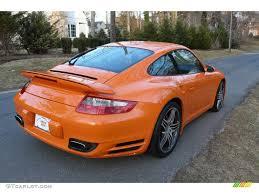 orange porsche 911 turbo 2007 orange porsche 911 turbo coupe 4087694 photo 6 gtcarlot