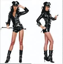 Police Woman Halloween Costume Pvc Police Costume Promotion Shop Promotional Pvc Police
