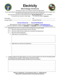 cooking merit badge worksheet answers electricity merit badge worksheet casademateo