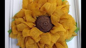 sunflower mesh wreath how to make a burlap sunflower wreath