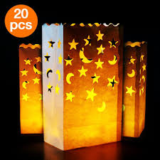 amazon com go luminary bags 20 pcs stars and moon design