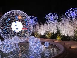 fantastic outdoor light decorations with white and blue