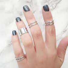 midi ring set staxx silver midi rings set of five 35 liked on