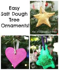 ornaments dough ornaments diy painted salt