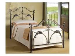 Art Nouveau Headboard by Double Bed In Wrought Iron With Tufted Headboard Idfdesign