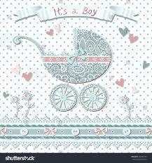 vintage baby shower card vector polka stock vector 284169752