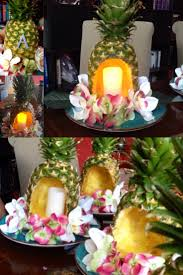 Homemade Table Centerpieces For Parties by Homemade Pineapple Centerpieces For Luau Themed Party More Pics