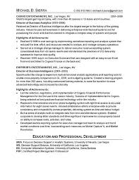 Achievements In Resume Sample by Chief Information Officer Cio Resume Example