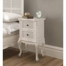 Bedside Tables Rattan Antique Style Bedside Table And Shabby Chic