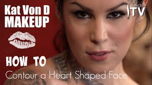 kat von d makeup how to contour a heart shaped face using everlasting bronzer and blush