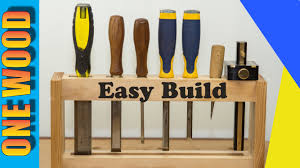 Simple Woodworking Projects For Beginners by Woodworking Project Build A Diy Chisel Rack Beginners