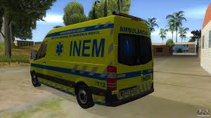 land rover 101 ambulance mercedes benz sprinter inem ambulance for gta san andreas