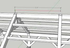 rafter spacing beginner looking for advice on a workshop project in timber