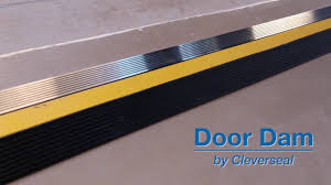 Overhead Door Weatherstripping by Cleverseal Door Dam Garage Door Threshold Seal Youtube
