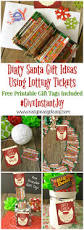 free printable thanksgiving gift tags dirty santa lottery tickets u003d the perfect gift easy peasy pleasy