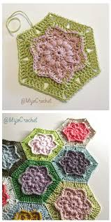 Tiny Flower Crochet Pattern - 10 free hexagon crochet patterns
