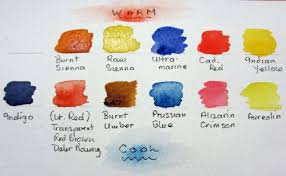 list of colours watercolours by polly birchall warm cool colours