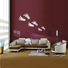 6pcs diy footprint acrylic wall sticker fat footprints mirror wall