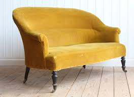 Curved Front Sofa by Lovely Early 20th Century French Tub Sofa In A Mustard Mohair
